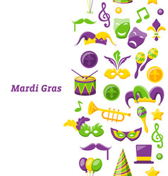 greeting invitation for mardi gras and carnival vector image vector image