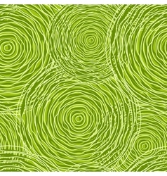 Seamless pattern with green circles vector image