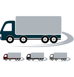 set of signs with truck image vector image