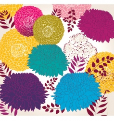 wallpaper with flowers vector image vector image
