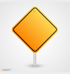 yellow empty road sign vector image