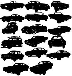 Classic car silhouettes vector