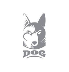 dog logo template vector image