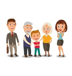 Happy family Surprised woman face and businessman vector image vector image