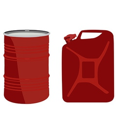 Red barrel and canister vector image