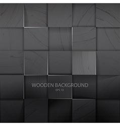 Stack of the dark wooden background vector