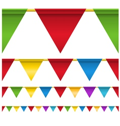Triangle Flag Banners vector image vector image