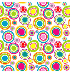 colorful seamless pattern with round shapes vector image vector image