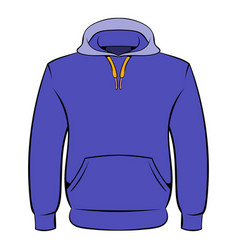 men hoodies icon cartoon vector image