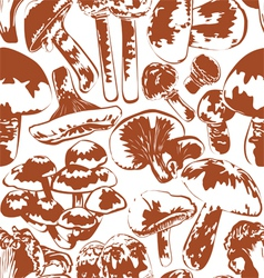 seamless background mushrooms vector image vector image