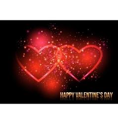 Shining valentines hearts vector image vector image