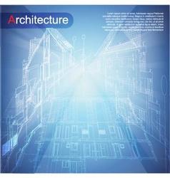 Urban Blueprint vector image vector image