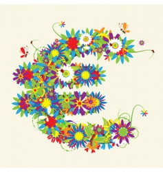 Euro floral design vector image vector image