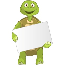 Funny Turtle Holding Box vector image vector image
