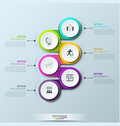 infographic design template with 6 multicolored vector image vector image