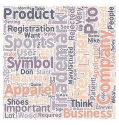 registered trademark symbol text background vector image vector image