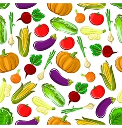 Ripe healthy organic vegetables seamless pattern vector image vector image