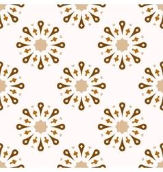 Seamless ornamental symbols pattern vector image