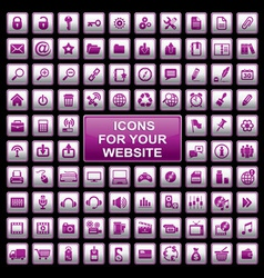 web website icons vector image vector image