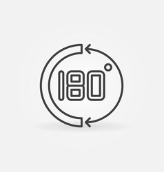 180 degrees concept simple math icon in vector