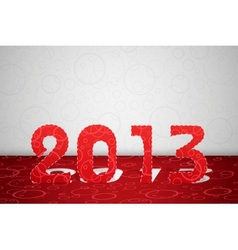 2013 year card vector image