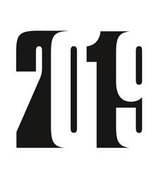 2019 black vector image