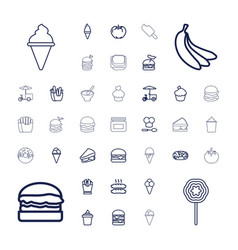 37 snack icons vector