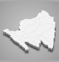 3d isometric map lampung is a province vector
