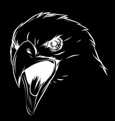 A eagle head mascot in the black vector
