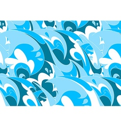 Abstract blue wave in a repeat pattern vector