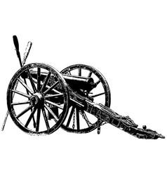 American civil war era cannon vector
