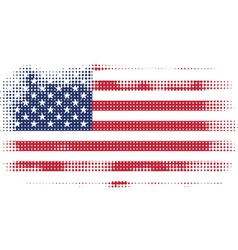 american flag halftone vector image
