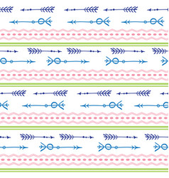 Arrows tribal colorful seamless pattern vector