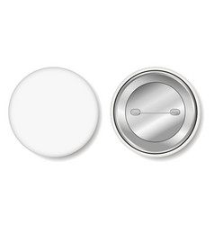 badge blank white pin button vector image