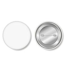 badge blank white pin button vector image