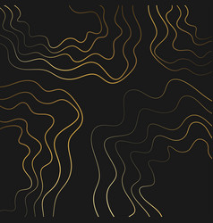 black and gold paper cut wallpaper vector image