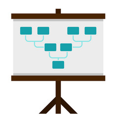 Board with team formation icon isolated vector