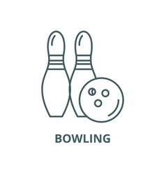 bowling line icon linear concept outline vector image