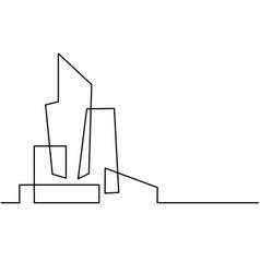Building cityscape line art silhouette vector