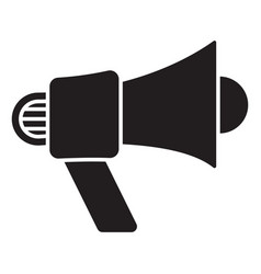 Bullhorn electric megaphone flat icons for apps vector