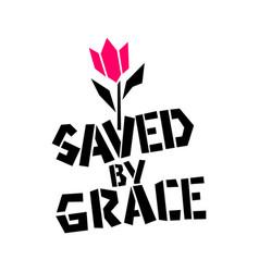 Christian saved grace vector