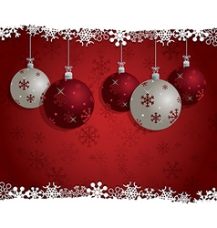 Christmas bauble decoration vector