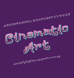 cinematic art typeface artistic font isolated vector image