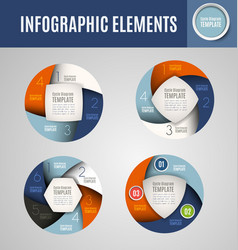 Circle infographics set 2 vector