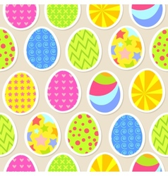 Colorful easter egg seamless background vector image vector image