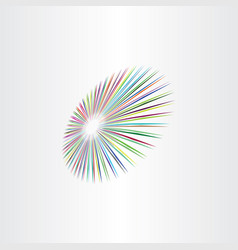colorful perspective circle background design vector image
