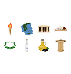 Country greece icons in set collection for design vector