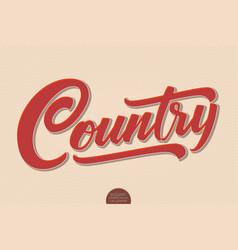 Country music volumetric hand drawn vector