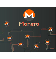 Cryptocurrency monero network technology vector