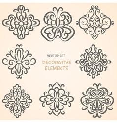 Decorative ethnic elemens vector image